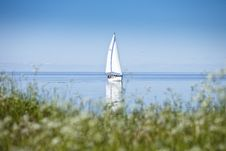 Free Sailboat In Calm Water Stock Photography - 21063402