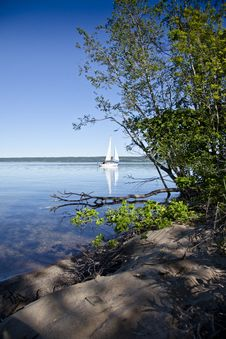 Free Sailboat In Calm Water Stock Images - 21063424