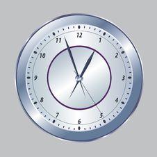 Free Metallic Clock Royalty Free Stock Photography - 21063787