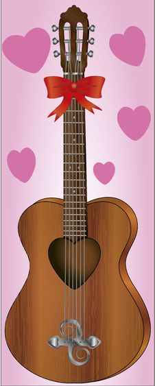 Free Romantic Guitar Royalty Free Stock Photography - 21063907