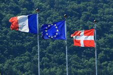 Free France Evropenian Union Savoy Flags Royalty Free Stock Photography - 21063977
