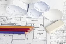 Free Architectural Blueprint Of Office Building Stock Photography - 21064082