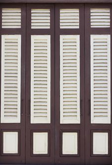 Free Brown And White Wood Windows Stock Photography - 21064162