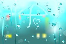 Free Raining View Through Window Stock Image - 21064371