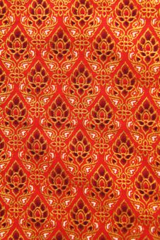 Pattern Of Thailand Native Cloths Stock Images
