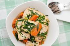 Oriental Style Tofu Delicacy Stock Photos