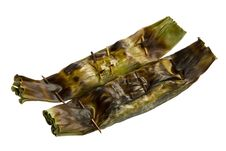 Free Grill Rice Wrap In Banana Leaf Stock Images - 21064844