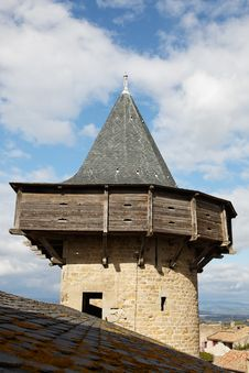 Free Tower From Carcassonne Royalty Free Stock Image - 21065336