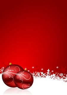Free Red Christmas Background Stock Images - 21065374