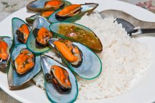 Free Rice With Mussels Stock Image - 21065491