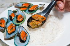 Free Rice With Mussels Stock Photo - 21065510