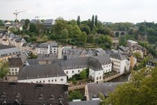 Free Panorama Of Luxembourg Stock Photography - 21065722