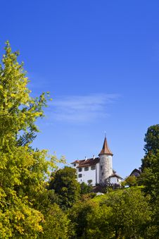 Old Castle In The City Of Kriens, Lucerne Royalty Free Stock Photos