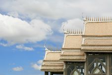 Free Beautiful Architecture Of White Temple Roof Stock Photos - 21066003