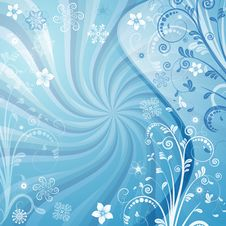 Free Gentle Vector Blue Christmas Frame Stock Photos - 21066093