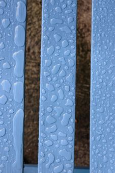 Rain Drop Patterns On Wood Stock Images