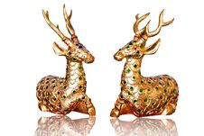 Free Golden Deer Royalty Free Stock Images - 21066549
