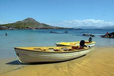 Free Yellow Boats On Golden Irish Beach Stock Photo - 21066710