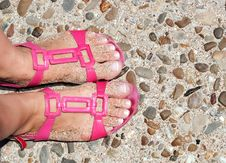 Free Feets On Sandals Stock Photos - 21066893