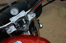 Free Wet Motorcycle Stock Image - 21066951