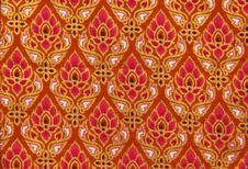 Pattern Of Thailand Native Cloths Stock Image