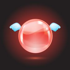 Free Red Crystal Ball Royalty Free Stock Image - 21067306