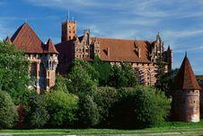 Free Malbork Castle Royalty Free Stock Image - 21067526
