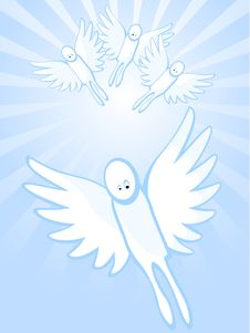 Heavenly Angels Royalty Free Stock Images