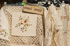 Free Hand Made Table Cloths Royalty Free Stock Photo - 21068995