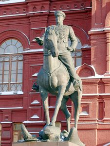Free Zhukov Monument Near In Moscow, Russia Royalty Free Stock Photos - 21069158