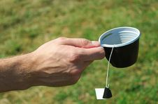 Free Teabag On A Plastic Cup Royalty Free Stock Photos - 21069308