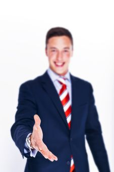Free Manager Ready For A Handshake Stock Photo - 21069390