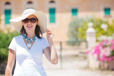 Free Beautiful Young Summer Woman In Hat Royalty Free Stock Photo - 21069855