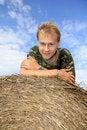 Free Boy On Straw Bale Royalty Free Stock Photos - 21070038