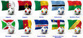 Free African Soccer Nations - 1 Of 4 Stock Photo - 21071970