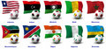 Free African Soccer Nations - 3 Of 4 Stock Photo - 21072010