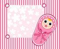 Free Baby Girl Card 2. Royalty Free Stock Photo - 21072425