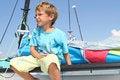 Free Boy On Board Of Sea Catamaran Stock Image - 21076241