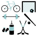 Free Set Of Sporting Equipment. Vector Illustration. Stock Image - 21076881