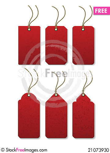 Free Tags_Red_02 Stock Photo - 21073930