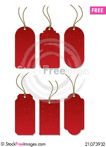 Free Tags_Red_03 Stock Photography - 21073932