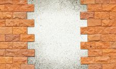 Brick Wall Frame Stock Image