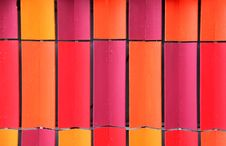 Free Colorful Interlocking Coloured Roof Tiles Stock Photography - 21071302