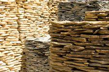 Free Stacks Of Rock Slabs Stock Image - 21071641