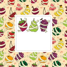 Free Fresh Fruit And Ruler Health Card Royalty Free Stock Image - 21071836