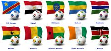 Free African Soccer Nations - 2 Of 4 Stock Photography - 21071972