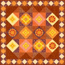 Free Brown Patchwork Quilt Stock Image - 21072031