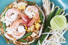 Free Pad Thai , Thai S Noodles Stock Image - 21072551
