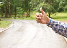 Free Hand Of Hiker Man At Rural Stock Image - 21072701