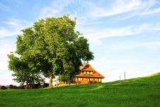 Old Swiss Farm In The Alps Royalty Free Stock Photography